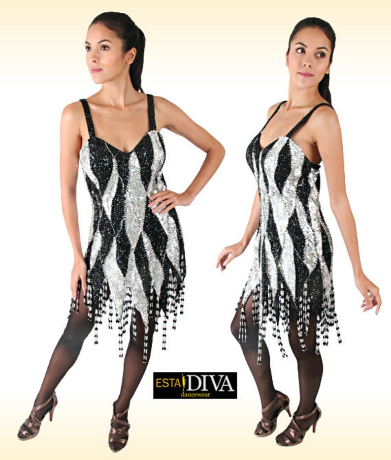 413dba11 Sequin Dance Dress Bella Perla Latin dance dress Latin | Etsy