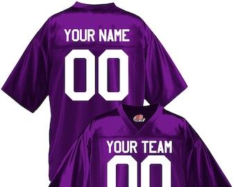 plain purple football jersey