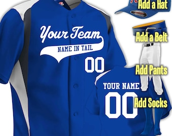 9b75da1eb5a Custom 3 Color Baseball Uniform