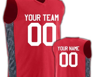 1132577e665c Men s Custom Basketball Jerseys -Graphic Side Print - includes Team Name