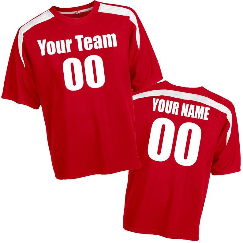 fd511748058 Sweeper Crew Neck CoolMesh Accent Trim Custom Soccer Jersey   Etsy