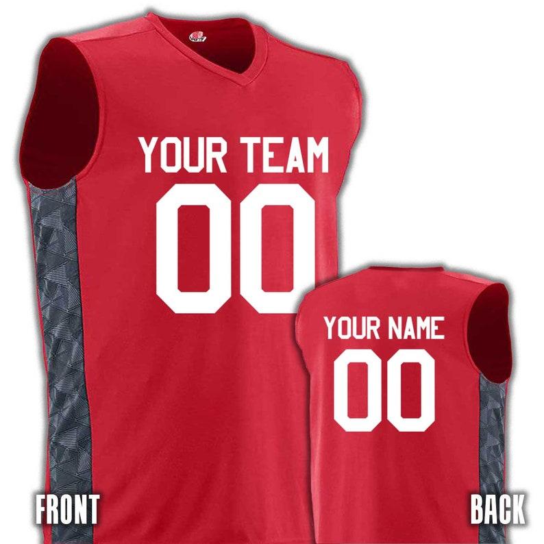 ed57b7218 Men s Custom Basketball Jerseys Graphic Side Print