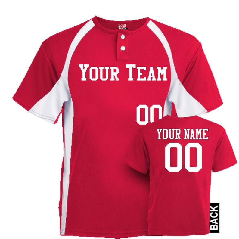 ab68e274d Line Drive Cool Mesh 2 Color Two Button Custom Baseball | Etsy