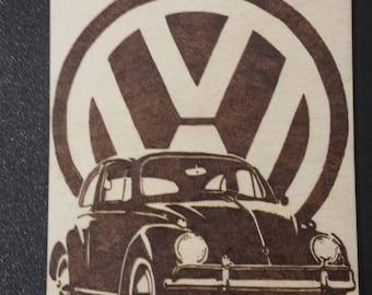 VW Bettle wood burning A5
