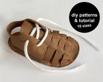 Super baby shoe pattern - oxford baby shoe sandals - DIY baby shoes - baby summer shoes - baby shoe patterns - baby shoe sewing patterns