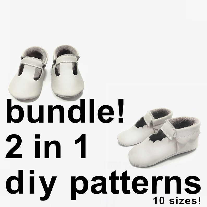 6474979c6893d Scallop baby moccasins and Mary Jane t-strap moccasins baby shoe 2 in 1  patterns - baby shoes patterns - baby moccasins pattern