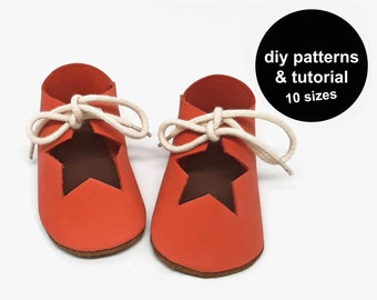 Christmas baby shoe sewing patterns - baby shoe patterns - baby shoe sewing pattern - baby booties sewing pattern - baby shoe template
