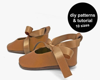 Baby shoes sewing pattern - baby shoe patterns - baby shoe template - DIY baby shoes patterns - baby shoe template