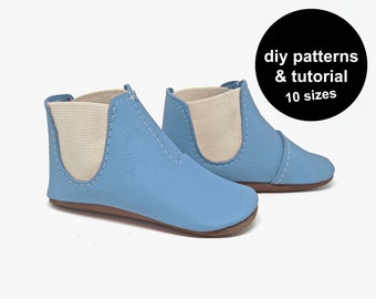 Funkiest Baby Shoe Pattern - Baby Shoes Sewing Pattern - Baby Shoe Patterns - Baby Boots Pattern - Baby Booties Pattern - DIY Baby Shoes