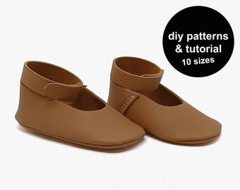 Stylish Baby Shoe Pattern - Mary Jane Baby Shoe Patterns - Easy DIY Baby Shoe Sewing Patterns - Baby Shoe Patterns - Baby Shoe Template