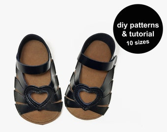 Oh cute baby shoe pattern - baby sandal sewing pattern - baby sandals pattern - baby wedding shoes - baby shoe template - baby shoe patterns