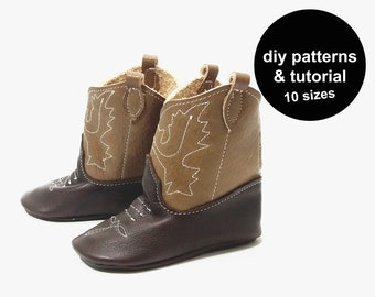 Cool cowboy boots pattern - baby shoe pattern - cowboy boot pattern - baby cowboy boots - baby cowboy boots pattern - baby shoe patterns
