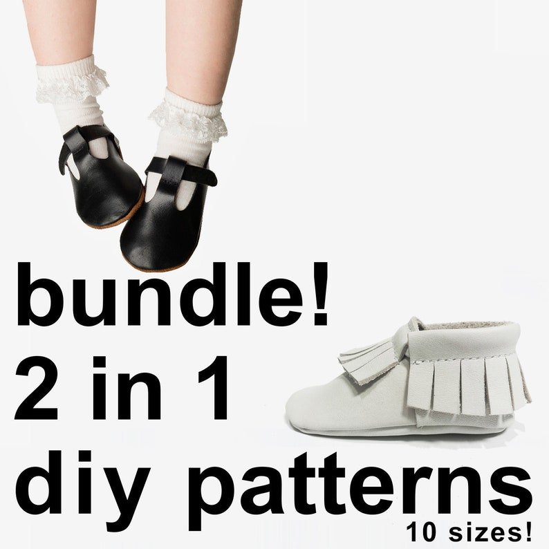 5266caf7aadaf Super cool baby shoe 2 in 1 bundle baby shoe patterns - baby moccasins  pattern - sewing baby shoe pattern