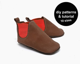 Baby Shoe Pattern - Baby Shoe Sewing Pattern - DIY Baby Shoe Patterns - Baby Boots Pattern - Baby Booties Pattern - DIY Baby Shoes Template