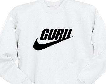 Guru Sweatshirt, Tumblr Shirts, Guys Hipster Shirt, Crew Neck Sweater, Funny Shirt, Crew Neck Sweatshirt