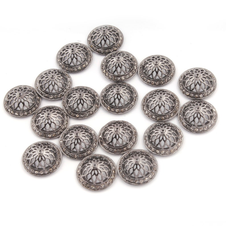 ABS-OSD1 Pkg of 20 Sterling Silver Oval Star Dust Beads 3x4.5mm