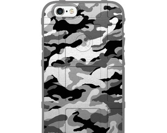 Custom Printed Limited Edition - Authentic Made in U.S.A. Magpul Industries Field Case, Subdued Black Grey White Camouflage -gcam