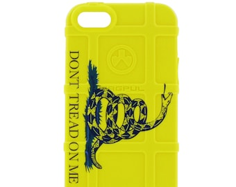 CUSTOM PRINTED Limited Edition - Authentic Made in U.S.A. Magpul Industries Field Case, Don't Tread on Me, Yellow Gadsden Flag