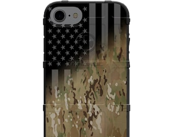 CUSTOM PRINTED Limited Edition - Authentic Made in U.S.A. Magpul, Pelican, Urban Armor Gear, Multicam OCP Scorpion U.S.A. Flag Subdued