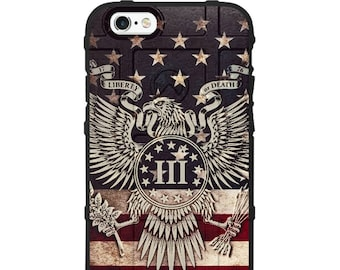 CUSTOM PRINTED Limited Edition - Authentic Made in U.S.A. Magpul Industries Field Case, US Flag 3 Percenter Eagle 13 stars design
