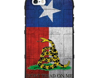 CUSTOM PRINTED Limited Edition - Magpul Industries Field Case or UAG Plasma, Weathered Texas State Flag, Don't Tread on Me -tex-dont