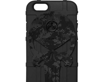 CUSTOM PRINTED Limited Edition - Authentic Made in U.S.A. Magpul Industries Field Case, Black Camo Punisher -bop