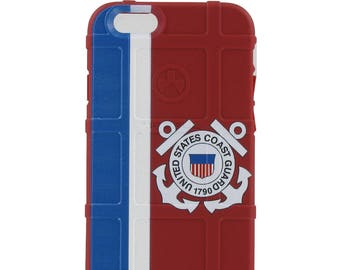 CLEARANCE - Magpul Industries Custom Printed MAG484-RED Apple iPhone 6/6s ONLY U.S. Coast Guard Case (Printing Blemish) -EGO78