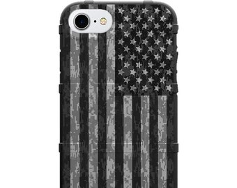 CUSTOM PRINTED Limited Edition - Authentic Made in U.S.A. Magpul Industries Field Case, Subdued US Flag Desert Digital Camouflage