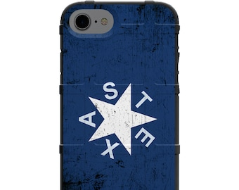 CUSTOM PRINTED Limited Edition - Authentic Made in U.S.A. Magpul Industries Field Case, Weathered Texas State Blue Star Flag