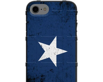 CUSTOM PRINTED Limited Edition - Authentic Made in U.S.A. Magpul Industries Field Case, Weathered Bonnie Blue Star Civil War Flag Hurrah