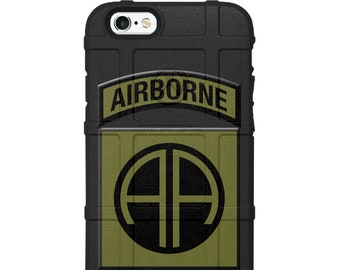Custom UV-Laser Printed Limited Edition US Army 82nd Airborne Division Patch O.D. Green/Black