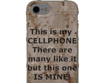This is my Cellphone, there are many like it but this one is mine! Rifleman's Creed Parity Cell Phone Case
