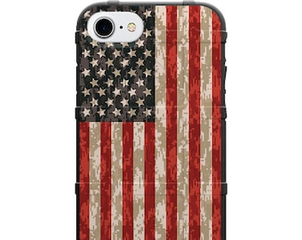 CUSTOM PRINTED Limited Edition - Authentic Made in U.S.A. Magpul Industries Field Case, US Flag, Stars & Stripes, Reversed over Digital Camo