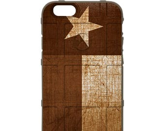 CUSTOM PRINTED Limited Edition - Authentic Made in U.S.A. Magpul Industries Field Case, Weathered FDE Desert Tan Texas State Flag tex-fde