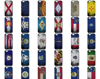 Custom Printed Limited Edition 50 US States & Territories, Distressed State Flag Series