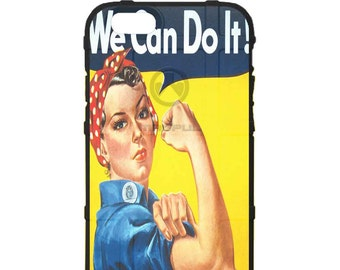 CUSTOM PRINTED Limited Edition - Authentic Made in U.S.A. Magpul Industries Field or Bump Case, WWII Rosie the Riveter, We Can Do It!
