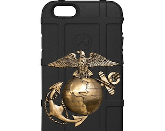 CUSTOM PRINTED Limited Edition - U.S. Marines EGA Metal Silver Gold & Black