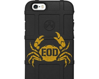 Custom Printed Limited Edition - EOD Explosive Ordnance Disposal Crab Badge Logo Case