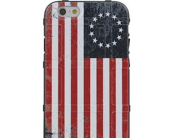 CUSTOM PRINTED Limited Edition - Authentic Made in U.S.A. Magpul Industries Field Case, US Flag, 13 stars, Betsy Ross Tattered Flag (US13)
