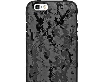 Custom Printed Limited Edition - Authentic Made in U.S.A. Magpul Industries Field Case, Subdued Black Grey Digi Camouflage -bdc2