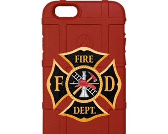 CUSTOM PRINTED Limited Edition - Authentic Made in U.S.A. Magpul Industries Field Case, Fire Department Logo Gold or Silver