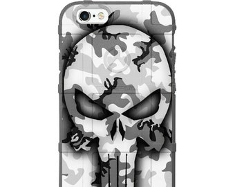 Custom Printed Limited Edition - Authentic Made in U.S.A. Magpul Industries Field Case, Ghost Punisher on Flags and MISC Camouflage Styles