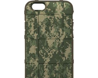 CUSTOM PRINTED Limited Edition - Authentic Made in U.S.A. Magpul Industries Field Case, Green Digital Camouflage