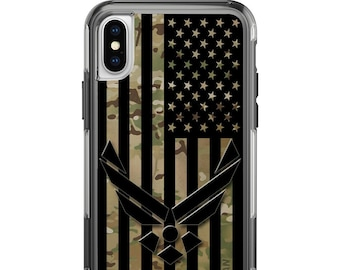 Custom Printed Limited Edition -  Air Force Subdued US Flag on Multicam OCP Camouflage