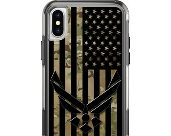Custom Printed Limited Edition - Authentic Made in U.S.A. Magpul Industries Field Case, Air Force Subdued US Flag, on Multicam Camouflage