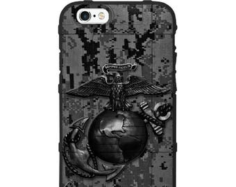 Custom Printed Limited Edition -  US Marine Corps Subdued Black Grey Digi Camo
