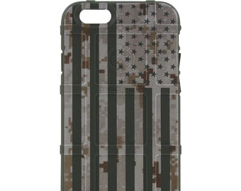 Custom Printed Limited Edition - Authentic Made in U.S.A. Magpul Industries Field Case, Desert Digital Camouflage MARPAT US Flag (ddusa)