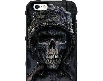 Custom Printed Limited Edition -  Veteran Skull Grimm Reaper Skull Case