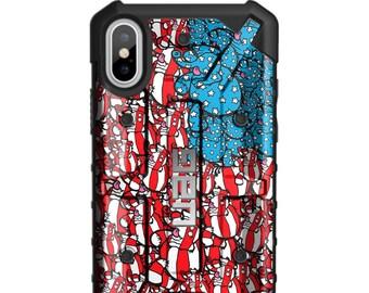 EGO Artist Series: Jason Maloney Tippsy The Elephant US Flag Limited Edition Custom UV-Printed Smartphone Case