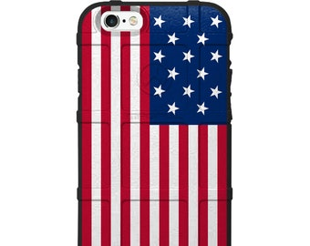 CUSTOM PRINTED Limited Edition - Authentic Made in U.S.A. Magpul Industries Field Case, US Flag, 15 stars Fort McHenry Star Spangled Banner